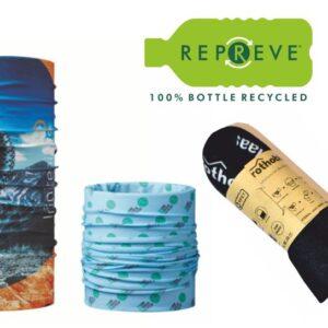 bandana tubolare multifunzione scaldacollo in rpet repreve con stampa personalizzata in sublimazione full color