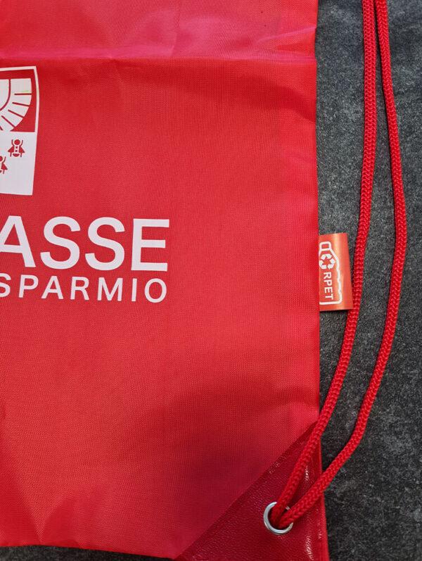 Sacca zaino in RPET personalizzata con stampa in sublimazione