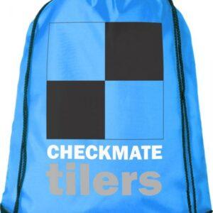 sacca zaino azzurra personalizzata con stampa logo multicolore