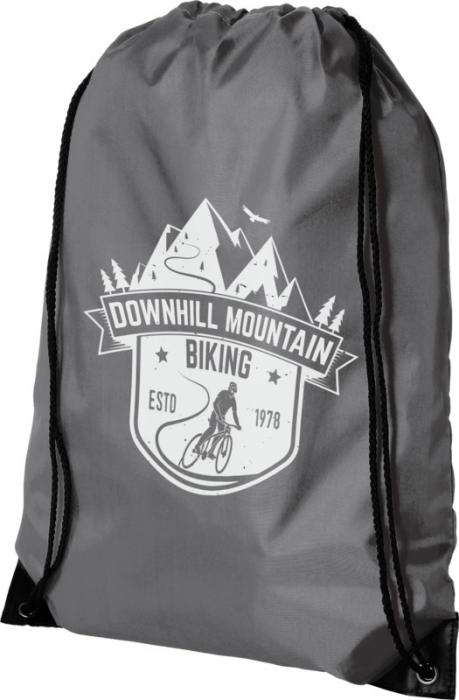 backpack bag grey with monochrome sublimation print