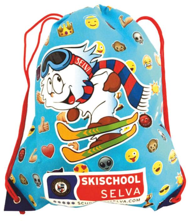 sacca zaino personalizzata con stampa multicolore