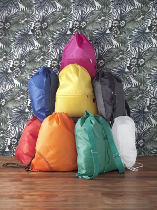 sacche zaino in colori differenti
